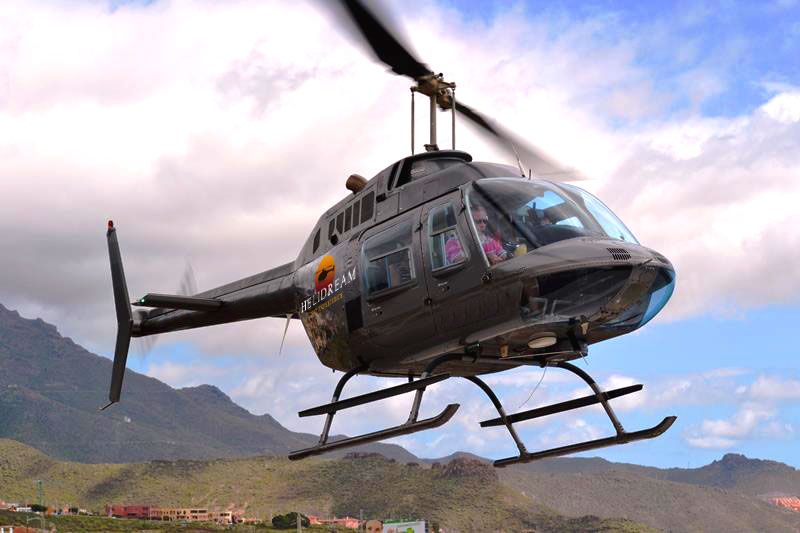 Helicopter ride at finca tres roques